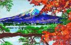 乱针绣-富士山