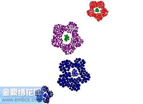 七色花-4_床上用品刺绣花样